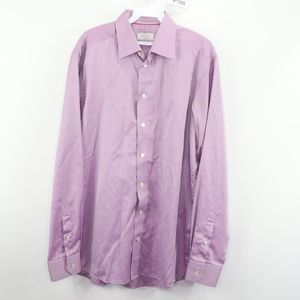 Eton Contemporary Mens 16 41 Dress Shirt Purple